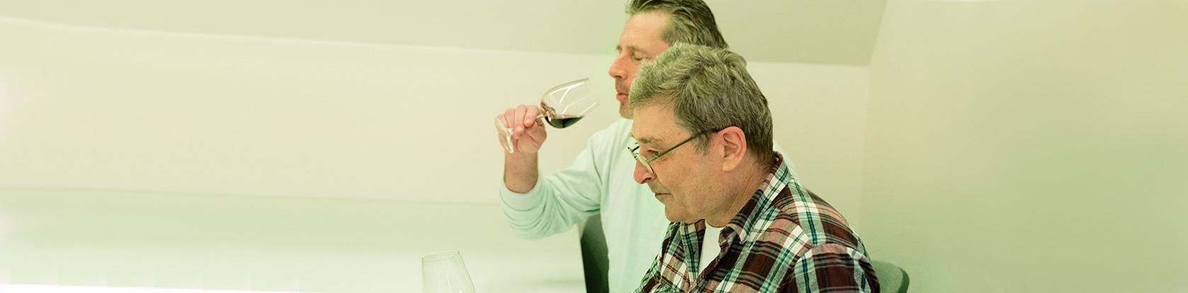 Weinlabor Klingler - Weinprobe im Sensorikraum